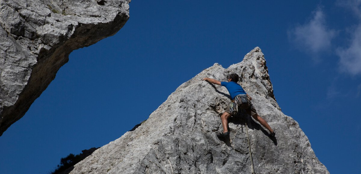 Climbing in Villnöss
